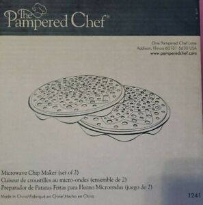 NEW PAMPERED CHEF MICROWAVE CHIP MAKER SET 1241 $15.95