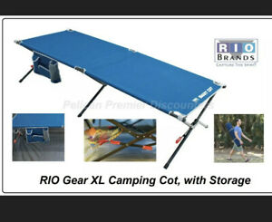 RIO Gear XL Camping Cot Comfortable Camping Cots with Storage Hold 350lbs Usa
