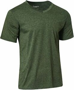 5 Pack: Mens V Neck Dry Fit Moisture Wicking Active Athletic Set 10 Size 3.0 $9.99