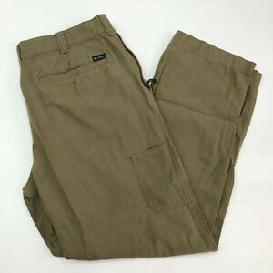 Columbia Pants Mens 40X32 Olive Straight Leg Regular Cotton Lining Zip Pocket