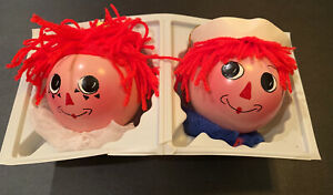 Raggedy Ann amp; Andy Hand Crafted Holiday Ornaments NEW w box Made in Italy $19.99