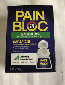 Vizuri Pain Bloc Arthritis Pain Relief for 24 Hours Bonus Size 0.5 OZ EXP 9 21 $10.00