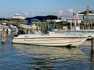 22#x27; Doral Center Console Fishing Boat With Dual Axle Aluminum Trailer