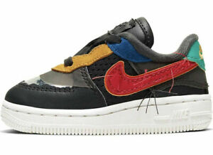 Nike Air Force 1 TD BHM QS Toddler Shoes CV2416 001 Black History Month $39.95