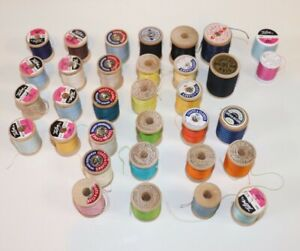 VINTAGE Sewing Thread Spools Mixed Lot of Various Sizes amp; Colors $29.99