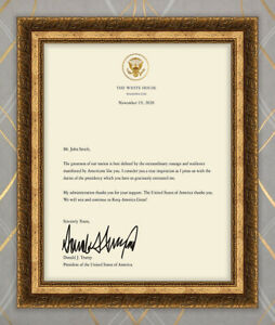 Personalized Printed 45th President Donald Trump Signed Letter GREAT GIFT $14.99
