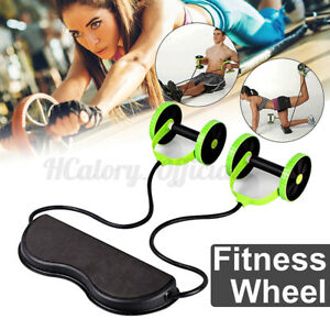 Abdominal Home Gym Fitness Roller ABS Wheel Workout Training Fitne $18.99