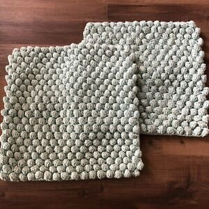 West Elm Pillow Cover Case Set Lot 16x16 100% Cotton Buttons Couch Throw Modern $39.99