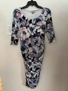 Angel Maternity Dress Blue Pink Size Small Mint Condition $24.95