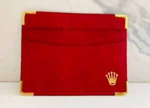 Vintage red leather Rolex card wallet. $25.00