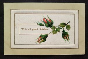 Antique with all good wishes Postcard $4.88