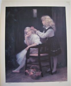 Alan Murray #x27;SISTERS#x27; signed numbered Lithograph 24quot; x 30quot; $15.00
