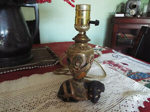 Antique Small Satsuma Moriage Elephant Lamp Highly Ornate No Reserve