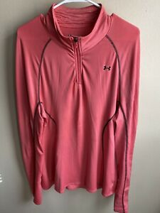Ladies Pink Under Armour 3 4 Zip Coldgear Top XL $15.00