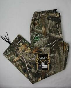 Mens Realtree Edge Cargo Pants Size Large 36 38 Camouflage Hunting 32 Inseam