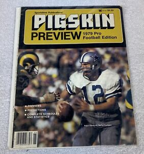 Pigskin Preview Magazine: 1979 Pro Football Edition Rams and Cowboys Board $10.00