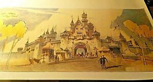 DISNEY LITHOGRAPH OF SLEEPING BEAUTY CASTLE BY HERB RYMAN NEW c $795.00