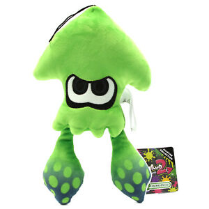 Splatoon 9quot; Plush NEON GREEN SQUID New Little Buddy 1471 Official Licensed