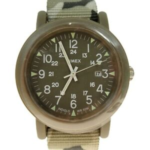 Second Hand Timex Camouflage Analog Watches Tw2P62500 Khaki Gray Size 280220