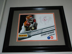 GIO GIOVANI BERNARD Signed Cincinnati Bengals 8x10 Photo FRAMED Panini Certified $69.99