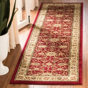 Traditional Vintage Floral Oriental Runner Rug Carpet 2#x27;3quot; x 12#x27; Red Ivory $82.58