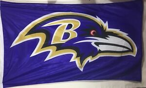 Baltimore Ravens NFL football flag large 5#x27; x 3#x27; purple team spirit wincraft