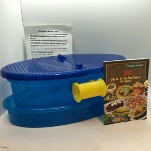 Pasta n More Microwave Pasta Cooker As Seen on TV Blue and Yellow