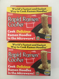 Pack of 2 Rapid Ramen Cooker Fastest Easiest Way to Cook Ramen in Minutes $20.98
