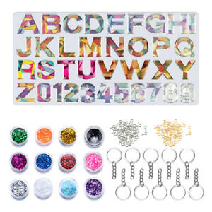 Keychain Molds for Resin Casting Epoxy Silicone Molds DIY Craft Pendant Making