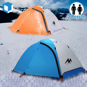 3 4 Season Backpacking Tent 2 Person Lightweight Double Layer Waterproof Camping