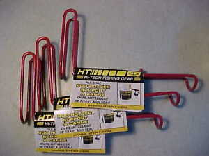 THREE PACK OF HT PAIL BUCKET WIRE ROD HOLDER PWR 1 for ice fishing rod jigs reel