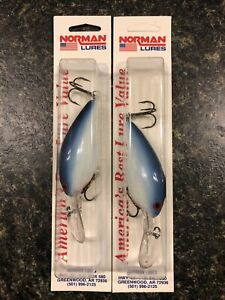 Norman Lures DD14 White Blue