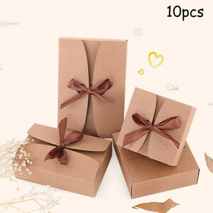Cake Gift Kraft Box Wedding Party Rustic Boxes Brown With rope Practical C $22.24