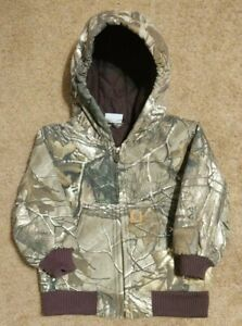 Carhartt Camouflage Camo Hunting Realtree Jacket Toddler 24m Duck Canvas Quilted