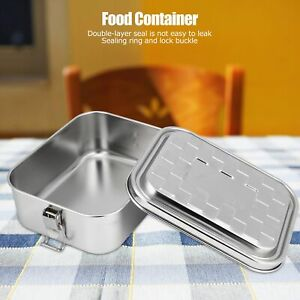 Single Layer Lunch Box Food Bento Container Stainless Steel For Students Small