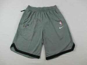 Utah Jazz Nike Dry Shorts Mens Gray Dri Fit NEW Multiple Sizes $36.10