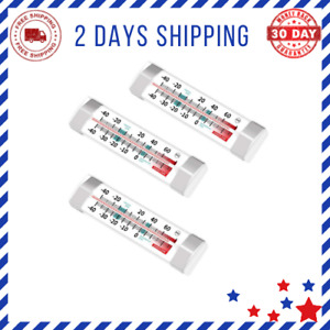 3 Pack Fridge Refrigerator Freezer Thermometer Stainless Steel Good quality $6.32