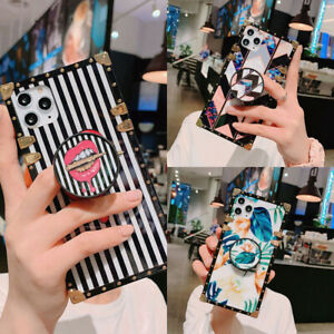 Luxury Retro Marble Metal Square Case Cover For Samsung Note20 10 S20 S10 S9 S8 $10.85