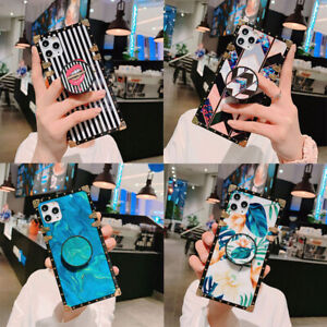 Luxury Retro Marble Metal Square Case Cover For iPhone 12 Pro Max 11 XS XR 6 7 8 $10.85