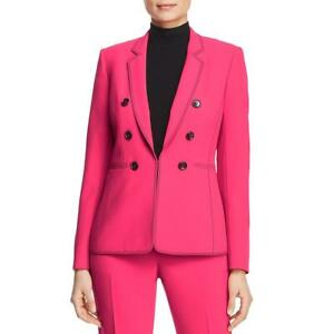 Donna Karan Womens Pink Double Breasted Career Blazer Jacket M BHFO 4919 $33.00