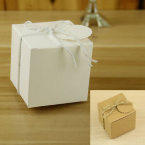 Square Candy Boxes String Wedding Anniversaries Gift Kraft Accessories $17.55
