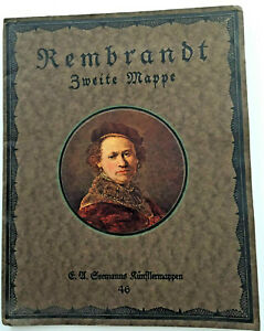 Rembrandt Zweite Mappe 46 German Book with Prints of Rembrandt Paintings $14.95