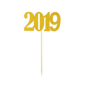 10pcs Number 2019 Cake Toppers Food Toppers for Anniversary Graduation Wedding $6.23