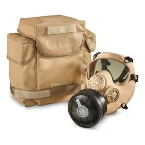 NEW French Military Surplus ARF A Gas Mask with Bag and Filter Sand $69.95