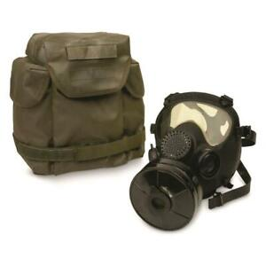 French Military Surplus ARF A Gas Mask with Bag and Filter Black New $69.95