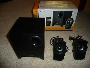 Creative A220 2.1 Multimedia 3 pc Speaker System Black $18.99