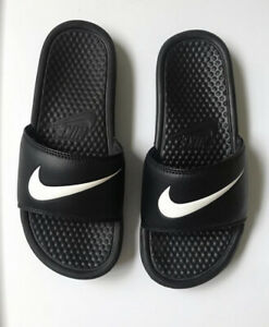 black and white nike slides womens size 8 free shipping $19.99