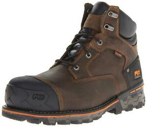 Timberland Mens Boondock Closed Toe Ankle Military Boots Brown Size 9.0 XUl3