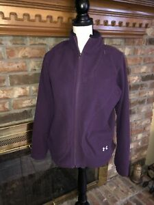 Ladies Fleece Purple Under Armour Jacket Size Medium $9.99