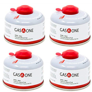 GasOne Camping Fuel Blend Isobutane Fuel Canister 100g 4 Pack